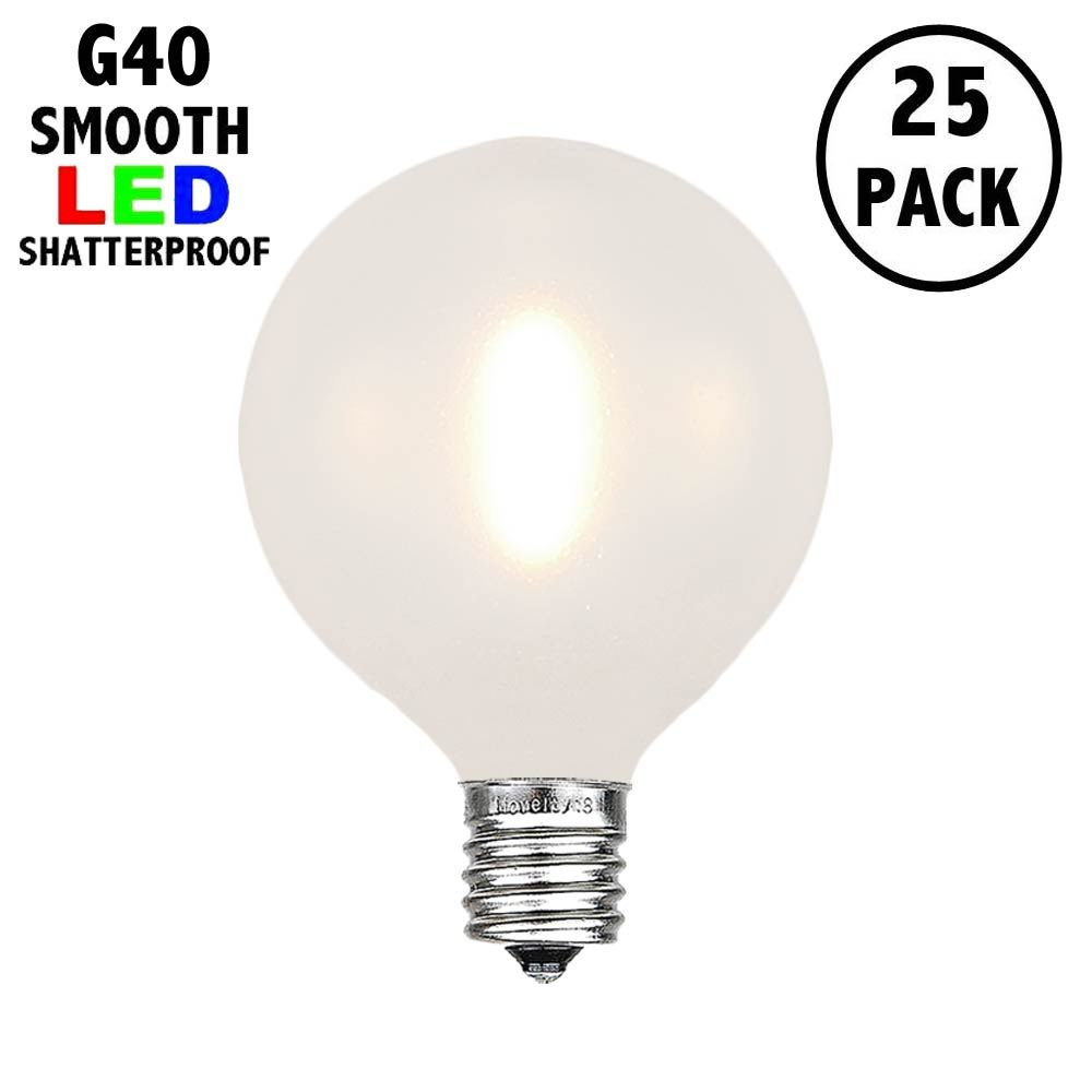 Picture of Frosted White - G40 - Plastic Filament LED Replacement Bulbs - 25 Pack