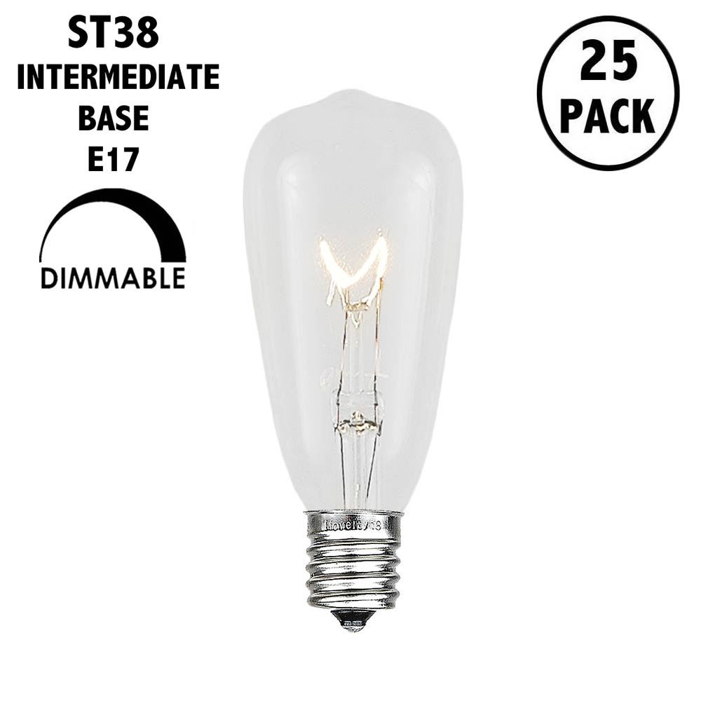 Picture of Clear ST38 - 7 Watt Replacement Bulbs 25 Pack