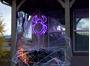 """Picture of 24"""" Halloween Spider LED Rope Light Motif"""