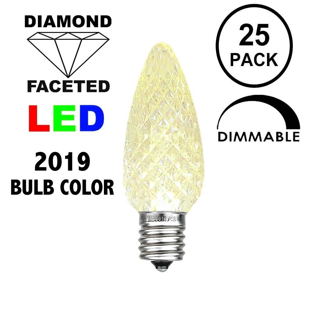 Picture of Old Color Warm White C9 LED Replacement Bulbs 25 Pack
