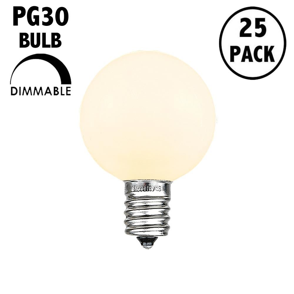 Picture of Frosted Warm White - PG30 Glass LED Replacement Bulbs - 25 Pack***ON SALE***