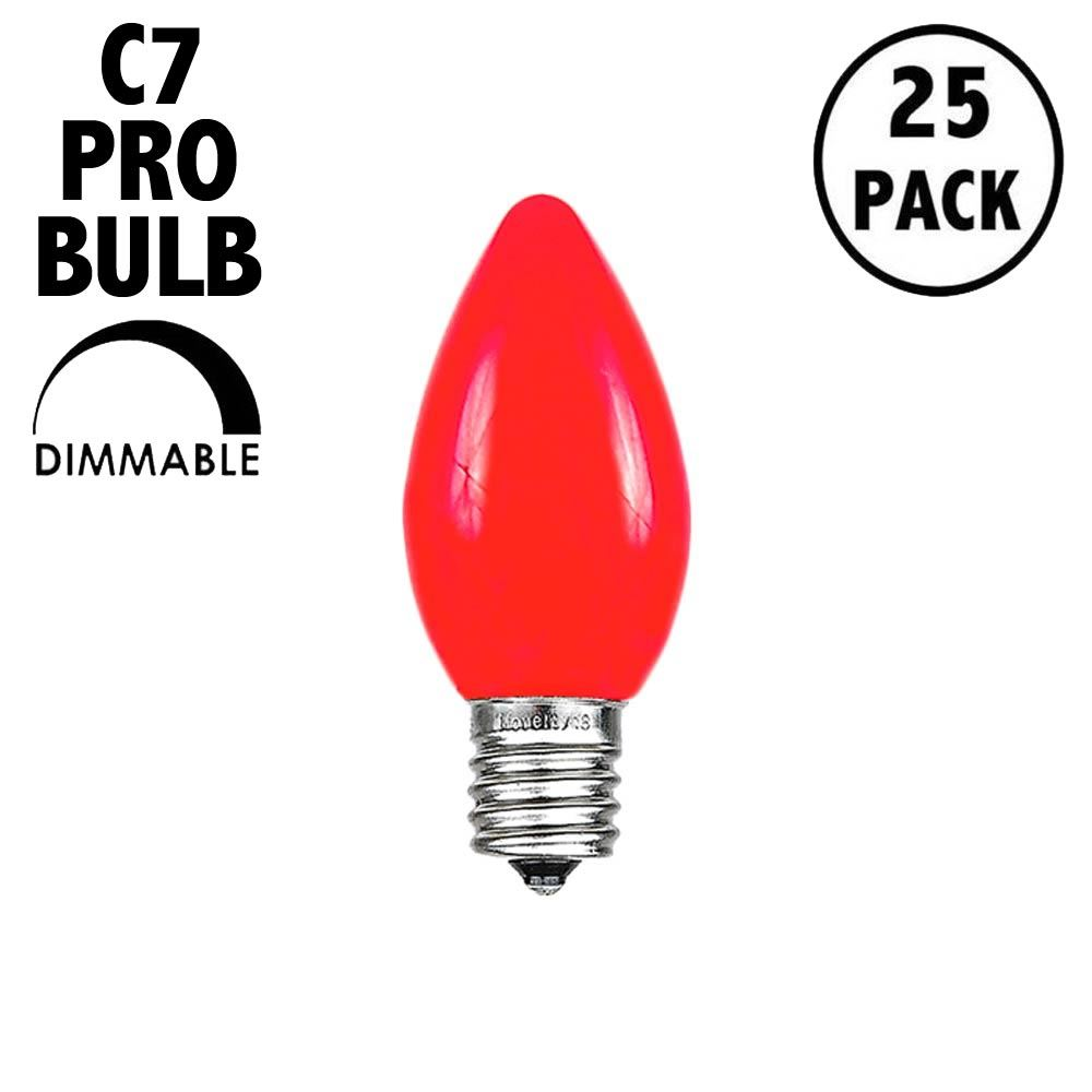 Picture of C7 Pro - Frosted Red - Glass LED Replacement Bulbs - 25 Pack***ON SALE***