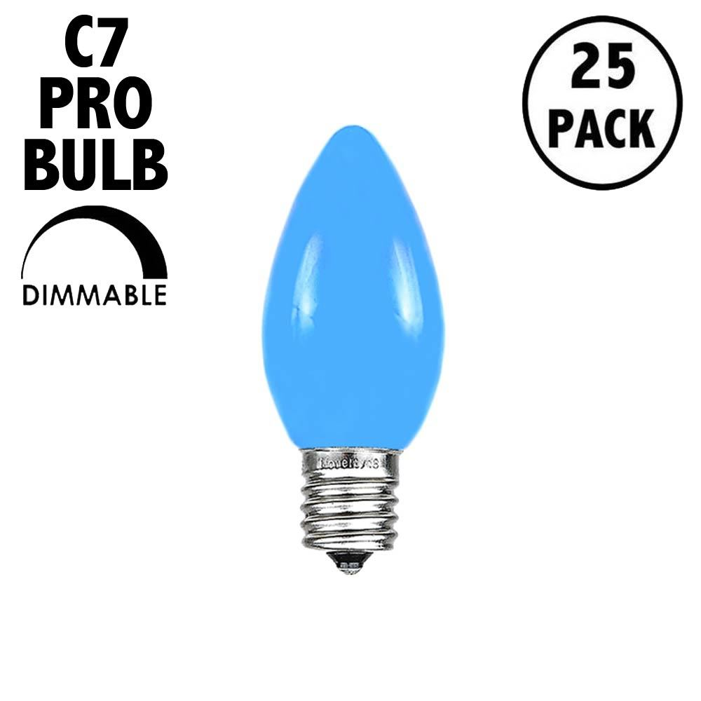 Picture of C7 Pro - Frosted Blue - Glass LED Replacement Bulbs - 25 Pack***ON SALE***