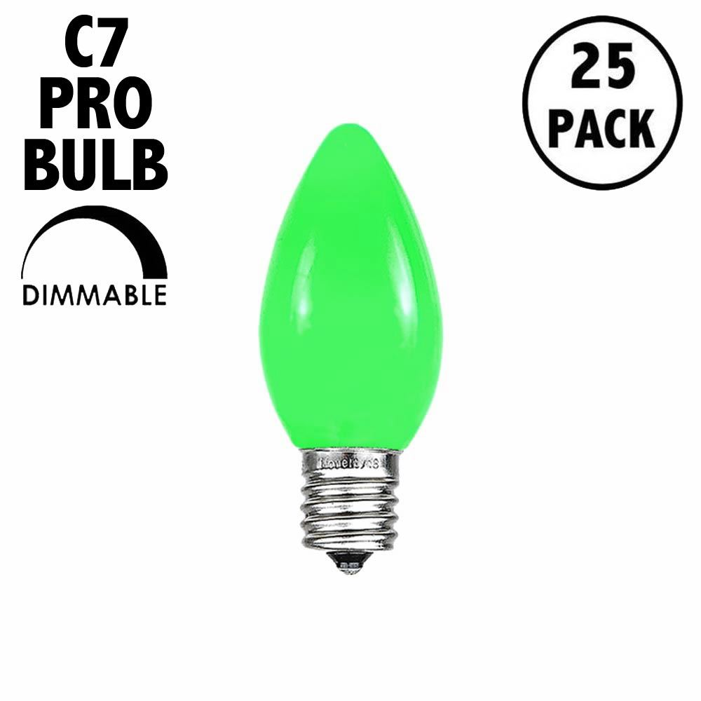 Picture of C7 Pro - Frosted Green - Glass LED Replacement Bulbs - 25 Pack***ON SALE***