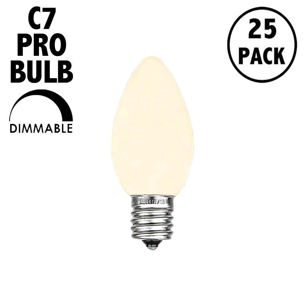 Picture of C7 Pro - Frosted Warm White - Glass LED Replacement Bulbs - 25 Pack***ON SALE***