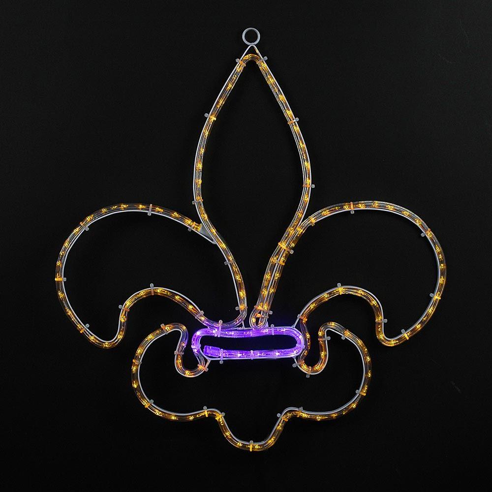 """Picture of 24"""" Fleur-De-Lis LED Mardi Gras Motif"""