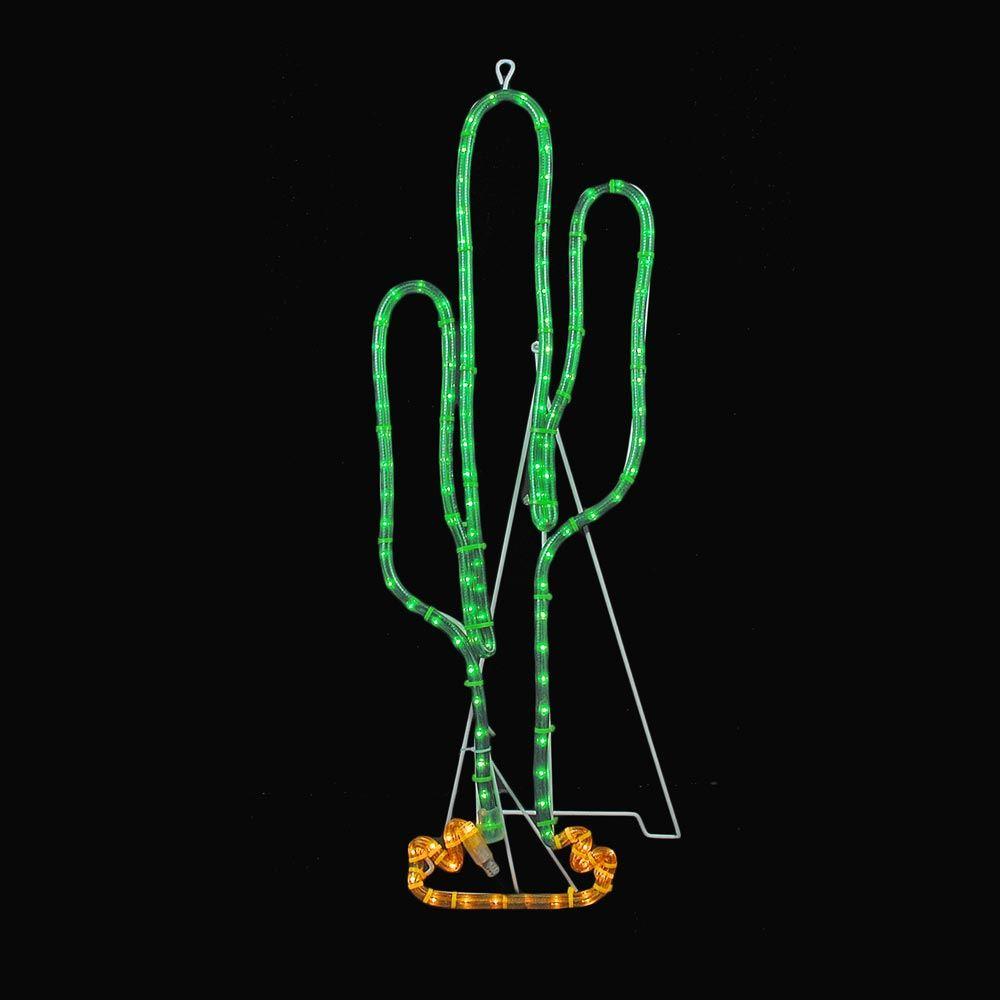 "Picture of 29"" Cactus Incandescent Rope Light Motif"